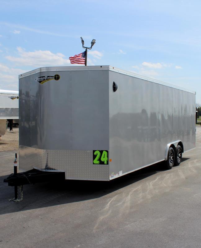 <b>READY JUNE</b> 2021 24' Transport V Car Trailer w/Heavy Duty 5200# Axles/ Screwless Exterior/ 6