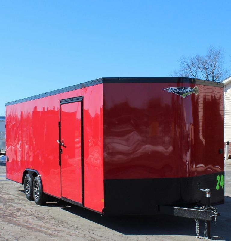 <b>IN PROCESS SPECIAL</b> RED w/BLACK OUT PKG.  2022 Millennium Heat Car / Racing Trailer