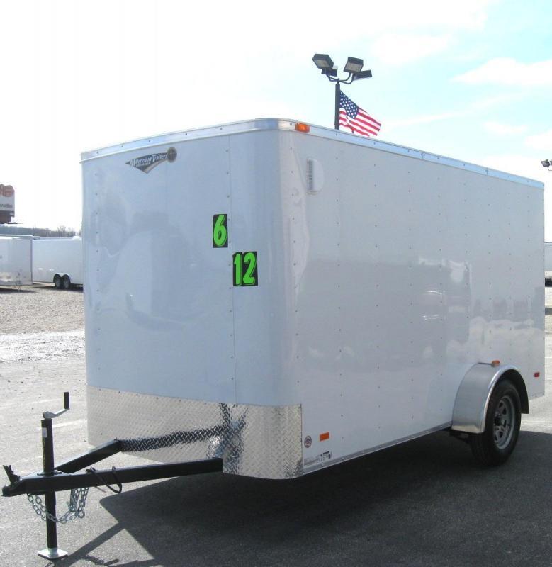 6'x12' Hero Economy Enclosed Cargo Trailer with Ramp Door
