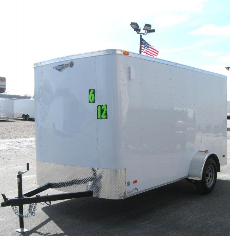 6'x12' Hero Economy Enclosed Cargo Trailer with Ramp Door