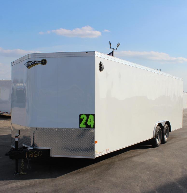 I<b>N PROCESS SPECIAL</b> 2022 24' Transport V Car Trailer w/HD 5200# Axles & Screwless Exterior