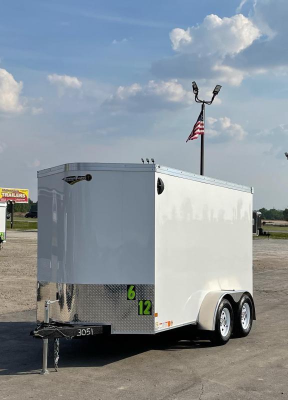 <b>SOLD & MAKING MORE</b> 2022 6'x12' TANDEM AXLES V-Nose Millennium Transport Enclosed Cargo Trailer