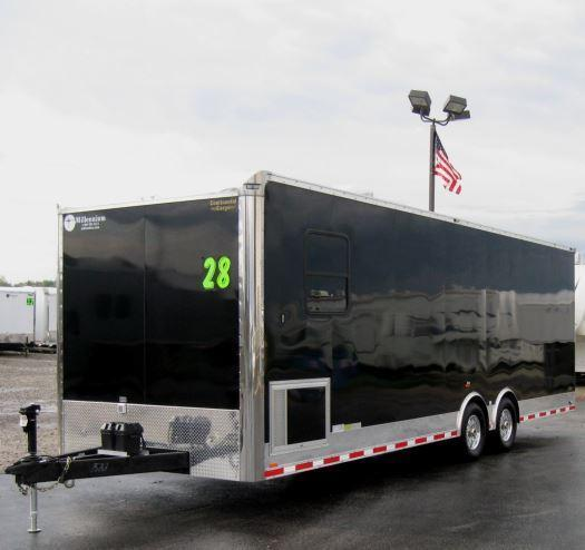 Custom 28' Millennium  Auto Master Enclosed Trailer Recessed E-Track