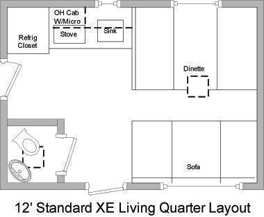"34' Millennium 12'XE Living Quarters 21' 6"" Cargo Area"