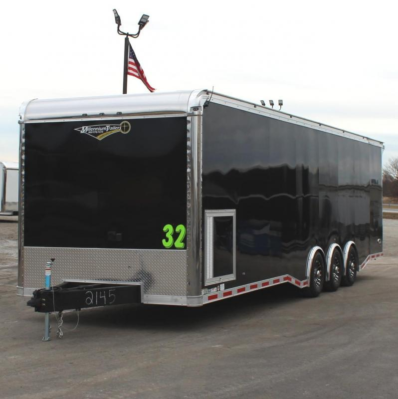 <b>IN PROCESS SPECIAL</b> BURN-OUT PACKAGE  2022 32' Edge Race Ready Trailer  3/6k Triaxle