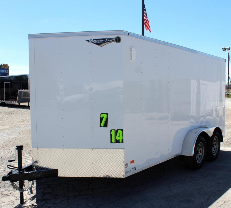 7'x14' Hero Budget Enclosed Cargo Trailer w/Ramp Door