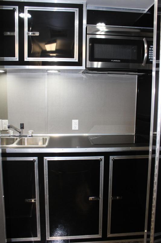 26' Millennium Enclosed Car Trailer/Toy Hauler Tons of Options Added! Black Cabinets