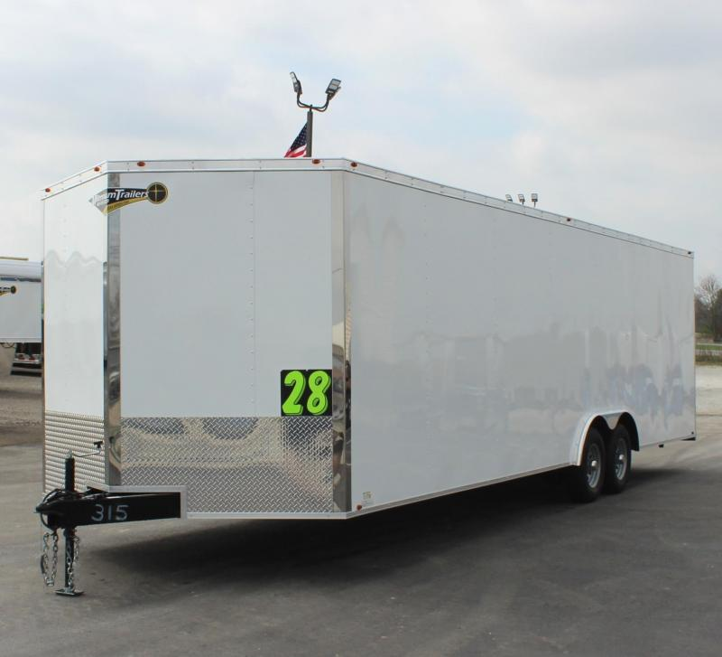 <b>READY!</b> 2020 28' Millennium Chrome Enclosed Race Car Trailer FREE RADIAL UPGRADE