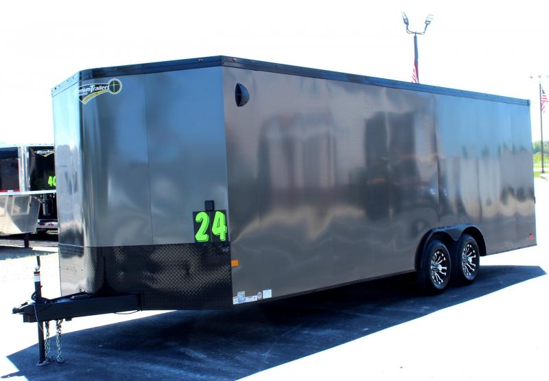 <b>WOW! A New Model</b> 2021 24' Millennium Heat Race Trailer Finished Interior w/Cabinets Lots of Standard Features!