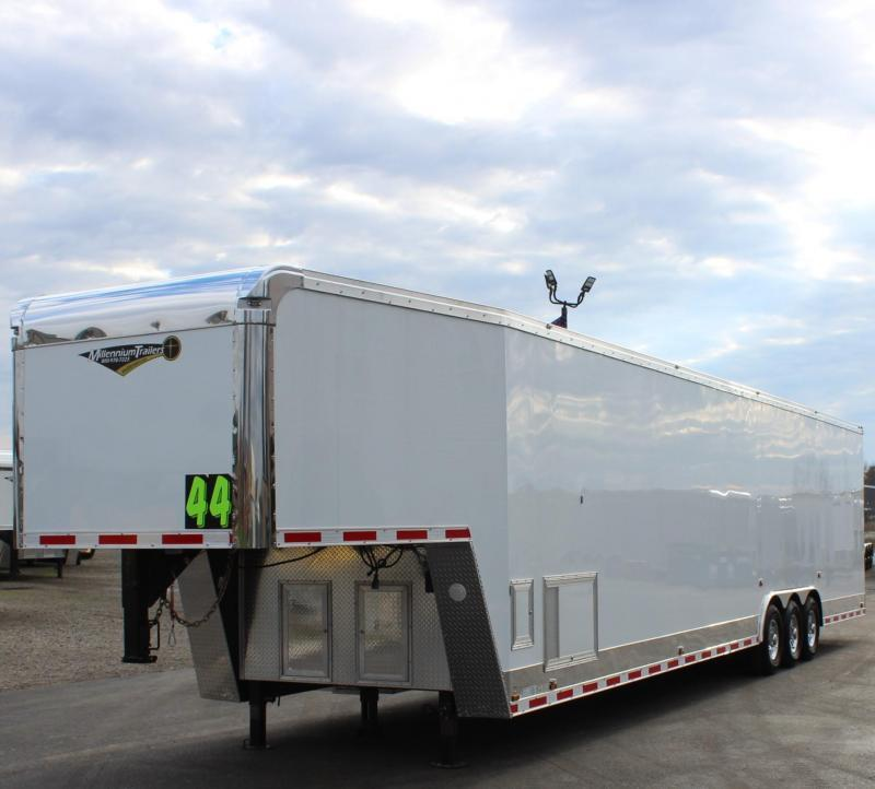 <b>IN PROCESS SPECIAL</b> LOADED w/DRAGSTER PKG. 2022 44'  Millennium Auto Master Gooseneck w/Super Stock Package