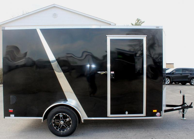 <b> Motorcycle Trailer</b> 6'x12' Scout Enclosed Trailer 3 Packages & Free Options