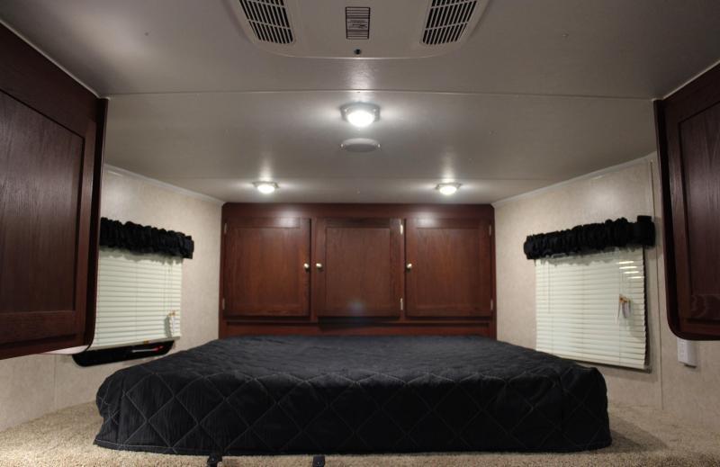 NOW READY! SAVE $1000 2021 44' Millennium Living Quarters 12' Sofa +8'/Large Bath w/Large Corner Shower Tapered Nose
