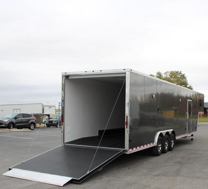 <b>IN PROCESS SPECIAL</b> 40' 2022 Millennium Silver Gooseneck Enclosed Race Car Trailer w/Partial Living Quarters