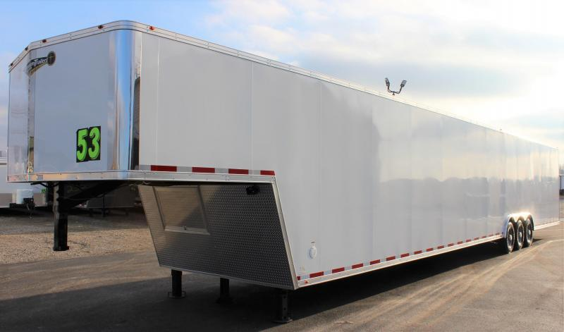 PERFECT CAR HAULER 180' Recessed E-Track  2022 53' Millennium  Gooseneck
