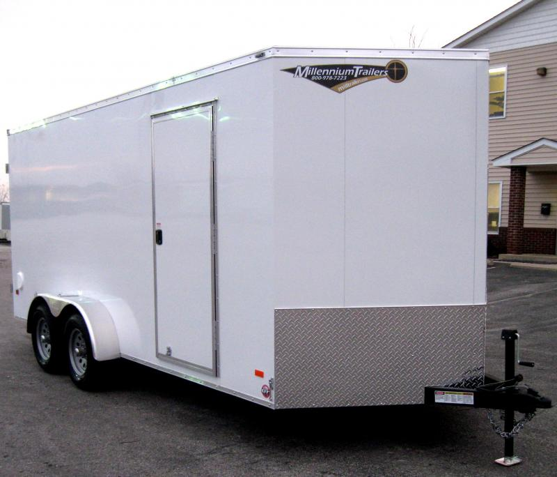 7'x16' Scout Trailer Cargo Doors with Plus Pkg. & 6 Extra High