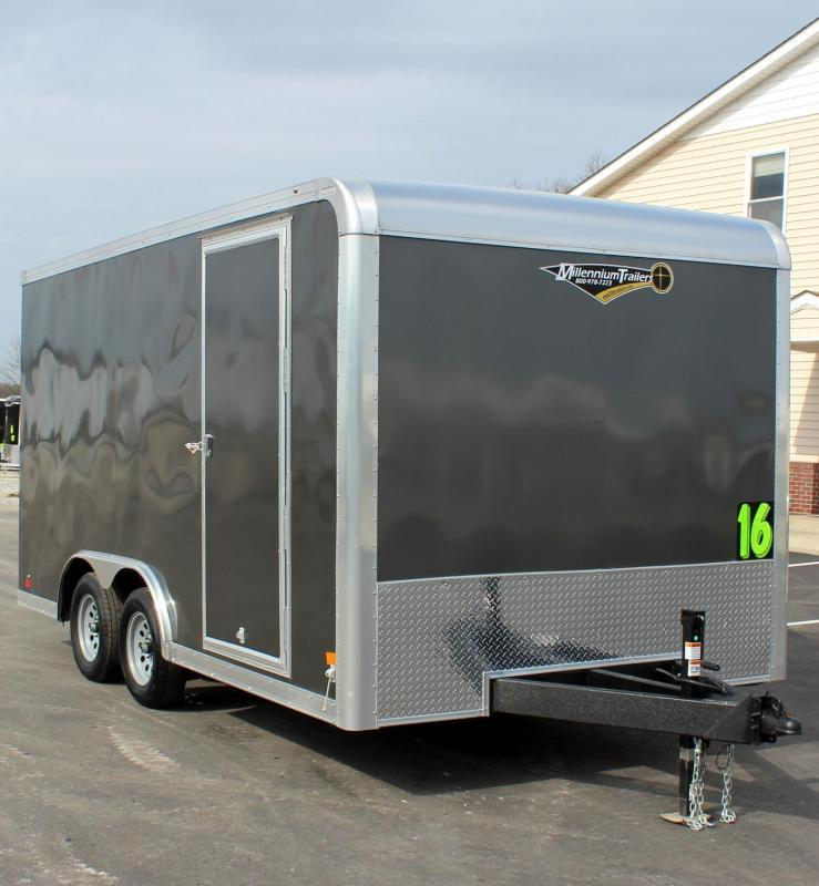 """<b>READY 8/6</b> Contractor Grade 2022 8.5' x 16' Grizzly Enclosed Trailer w/Ramp Door 6"""" Extra High"""