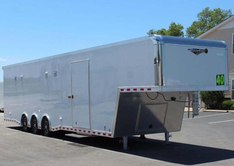 "<b>ALL 2020's BLOW-OUT SALE</b> $46999 40'  Icon Gooseneck 96"" Wide Ramp Door"