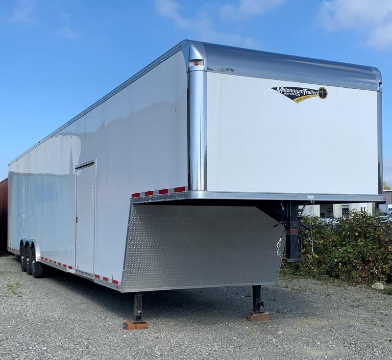 "Pre-Owned Located in Burlington WA  2020 46' Millennium Gooseneck 24"" Extra w/Double Cargo Doors"