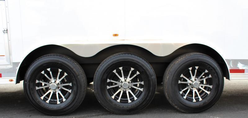 <b>REDUCED</b> READY SOON  2021 40' Millennium Race Car Enclosed Gooseneck Trailer w/12' Sofa Living Quarters/King Size Bath