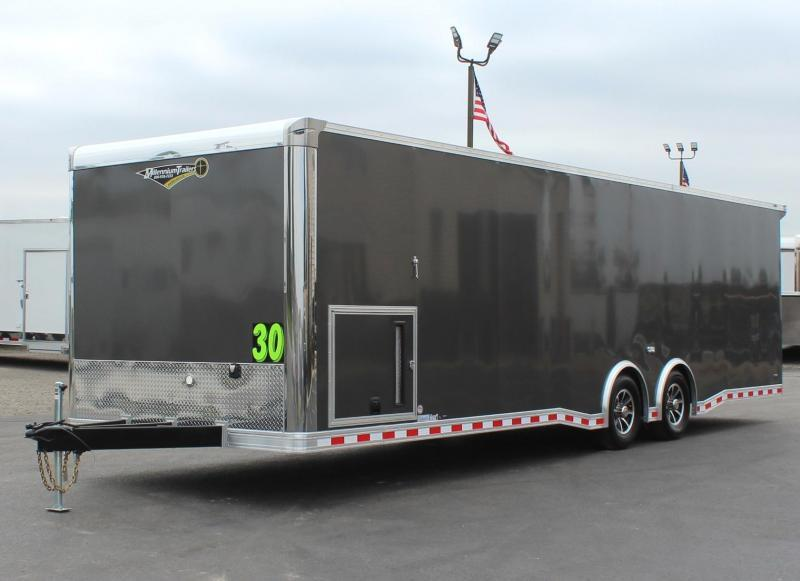 <b>PRICE LOCKED READY OCT.</b>  30' 2022 Millennium Extreme Car Hauler Wing/Finished Interior/Spread Axles & More!