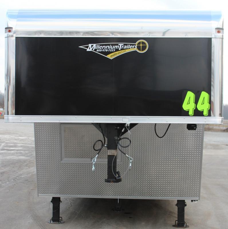 <b>SALE PENDING </b> 2020 44' Millennium Platinum Goosneck Black Cabinets Just Add Mattress!