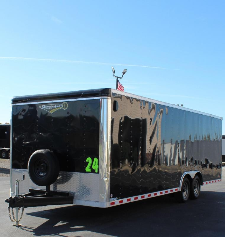 <b>Pre-Owned </b> 2019 24' Millennium Star Black Race Trailer