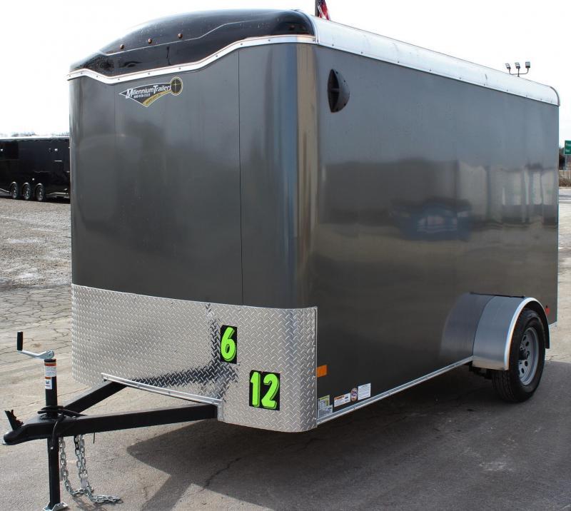 6'x12' Millennium Transport Cargo Trailer w/Ramp Door