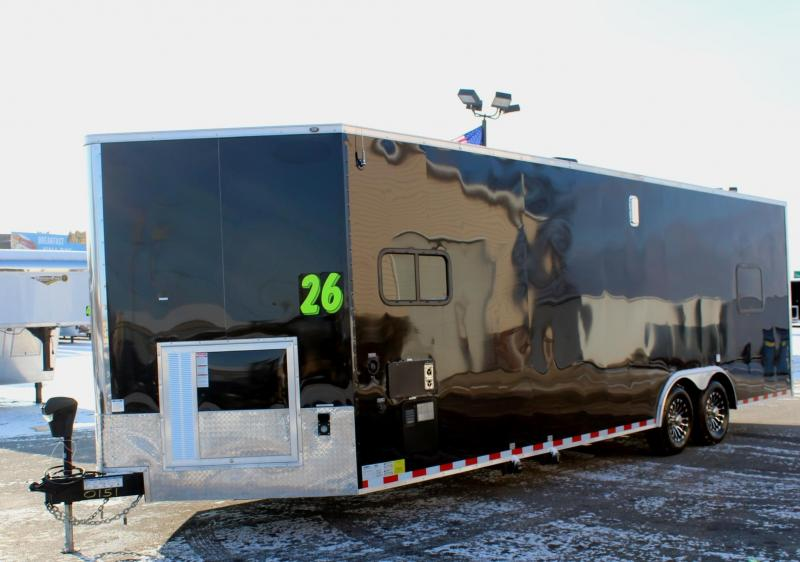 26' Millennium Auto Master Toy Hauler w/Living Quarters w/Weather Pro Electric Awning