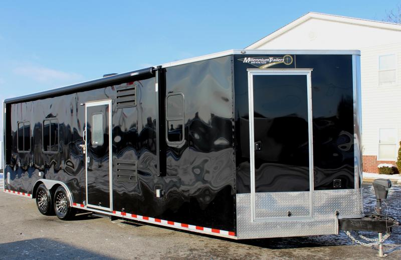 <b>ORDERS ONLY</b>  26' Millennium Auto Master Toy Hauler w/Living Quarters w/Weather Pro Electric Awning