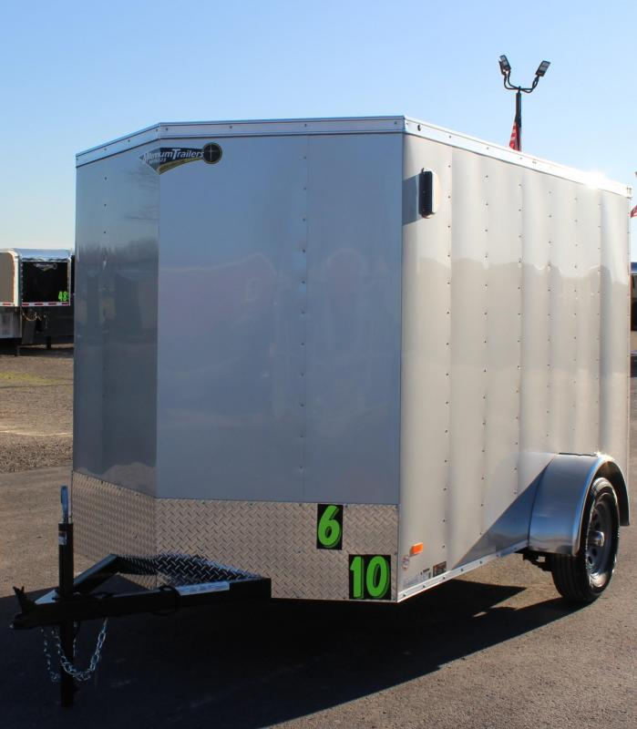6'x10' Hero Enclosed Cargo Trailer w/Ramp Door