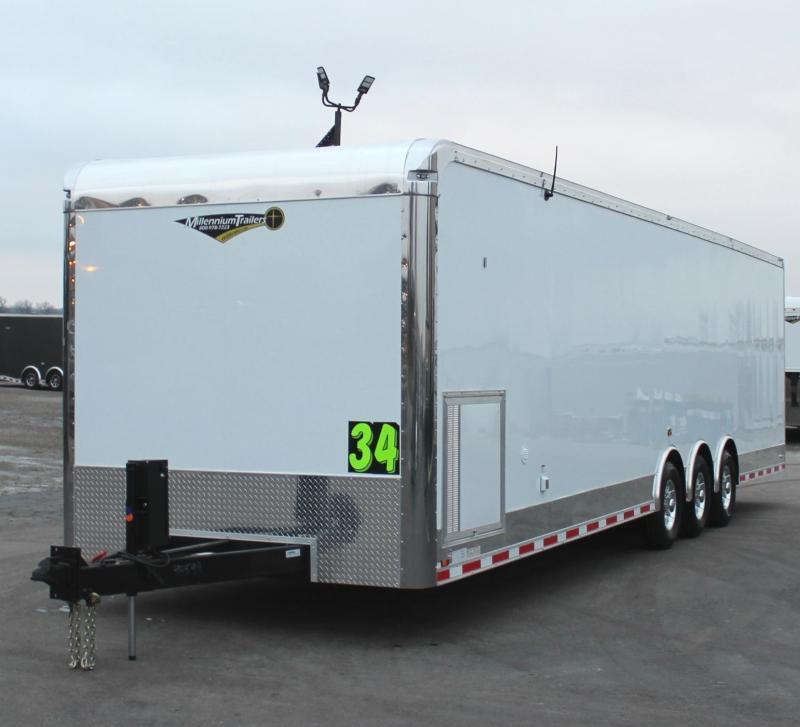 <b>LOADED & READY!</b>  2021 34' Loaded Millennium Automaster Pewter Walls & Cabinet Doors