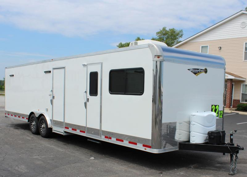 "<b>SKIP THE HOTELS!</b>  2020 Millennium 32' 12'XE Living Quarters  19' 6""  Cargo Area"