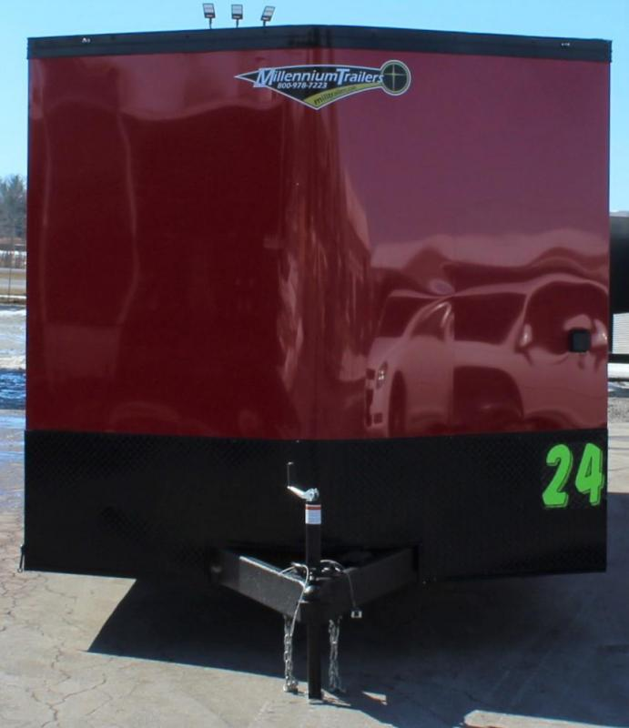 <b>SOLD MAKING MORE</b> RED w/BLACK OUT PKG.  2022 Millennium Heat Car / Racing Trailer