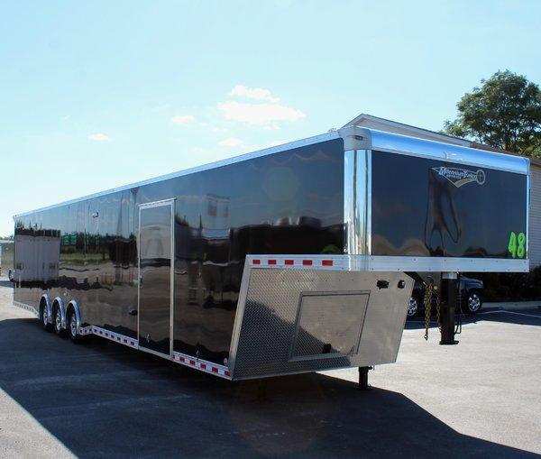 "92"" Wide Ramp Door! Now Ready! 2021 48' Millennium Extreme Gooseneck Loaded Out!"