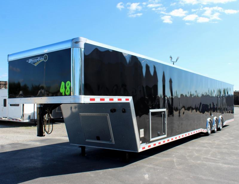 """<b>92"""" Wide Ramp Door! Now Ready!</b> 2021 48' Millennium Extreme Gooseneck Loaded Out!"""