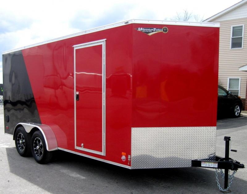 7'x16' Scout Cargo Enclosed Trailer with Plus Pkg. 6 Extra