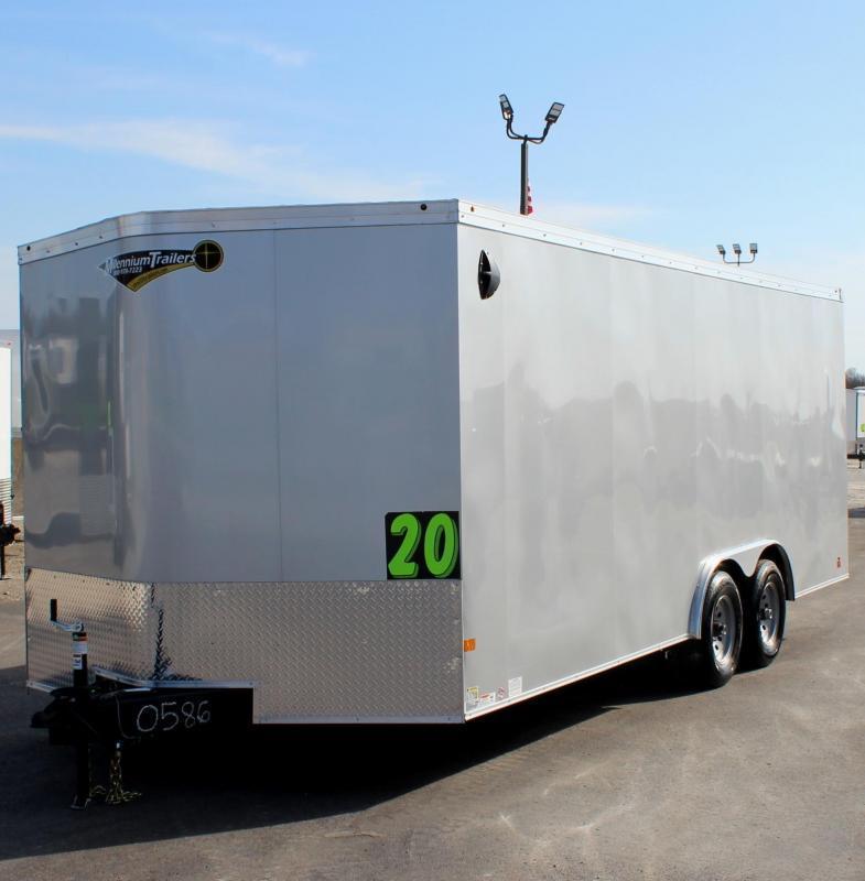 <b>READY NOV.</b> 20' 2022 Transport V Car Trailer w/Heavy Duty 5200# Axles & Screwless Exterior