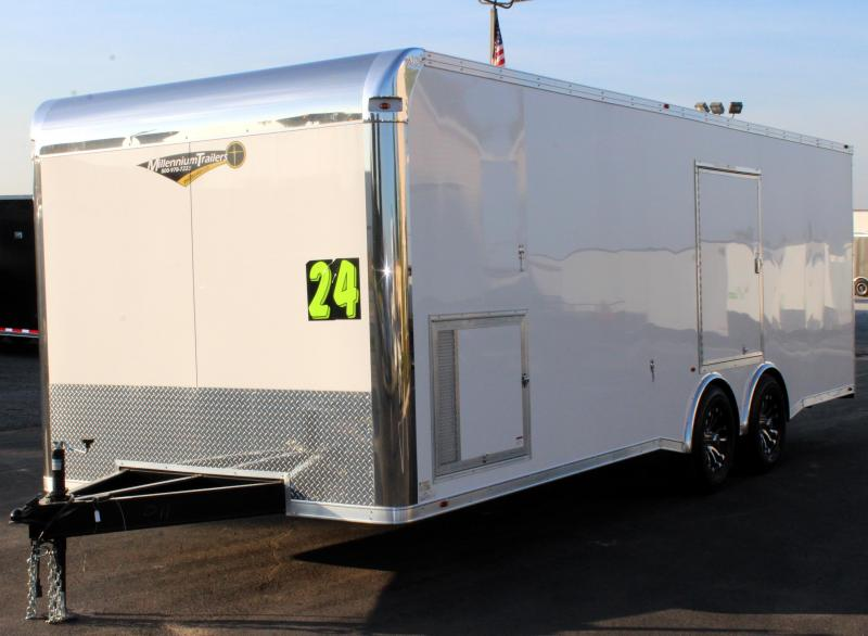 <b>SALE PENDING 4th of July Reduction</b> 2020 24' Silver Enclosed Trailer with Escape Door/Spread Axles