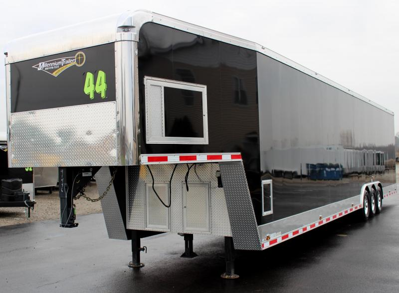 <b>SALE PENDING</b> Dragster Pkg. 2020 44' Millennium Trailers Gooseneck Tapered Nose