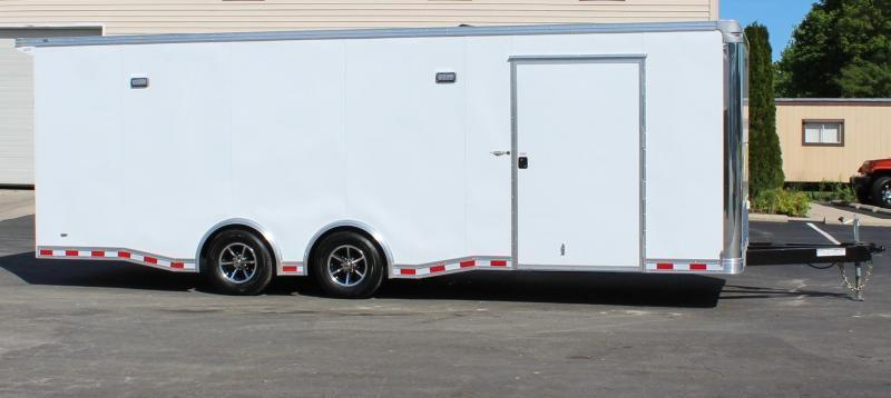 <b>READY IN AUG.</b>  Easy-Exit Trailer 2022 24' White Millennium Extreme with Removable Fender  & Rear Wing
