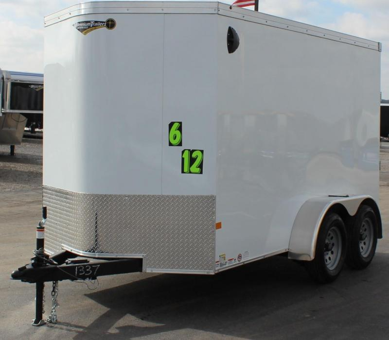 <b>TANDEM AXLE</b> 6'x12' V-Nose Millennium Transport Enclosed Cargo Trailer