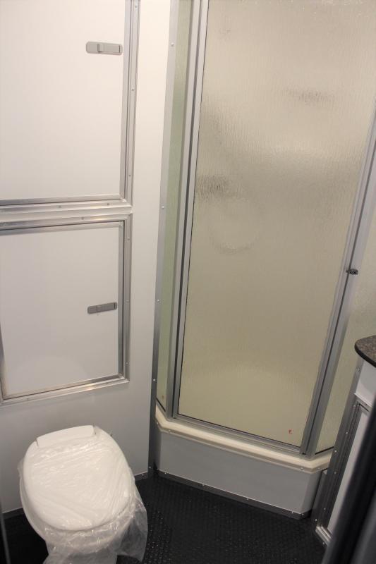 <b>CHECK OUT THE BATHROOM</b> 2020 48' Millennium Platinum Gooseneck w/Large Bathroom