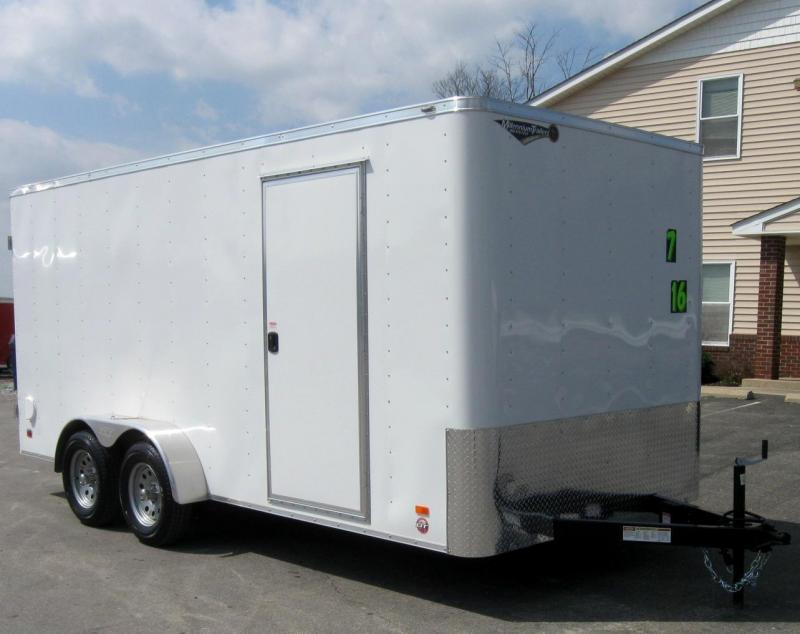 7'x16' Scout Enclosed Cargo with Double Doors 6 Extra High