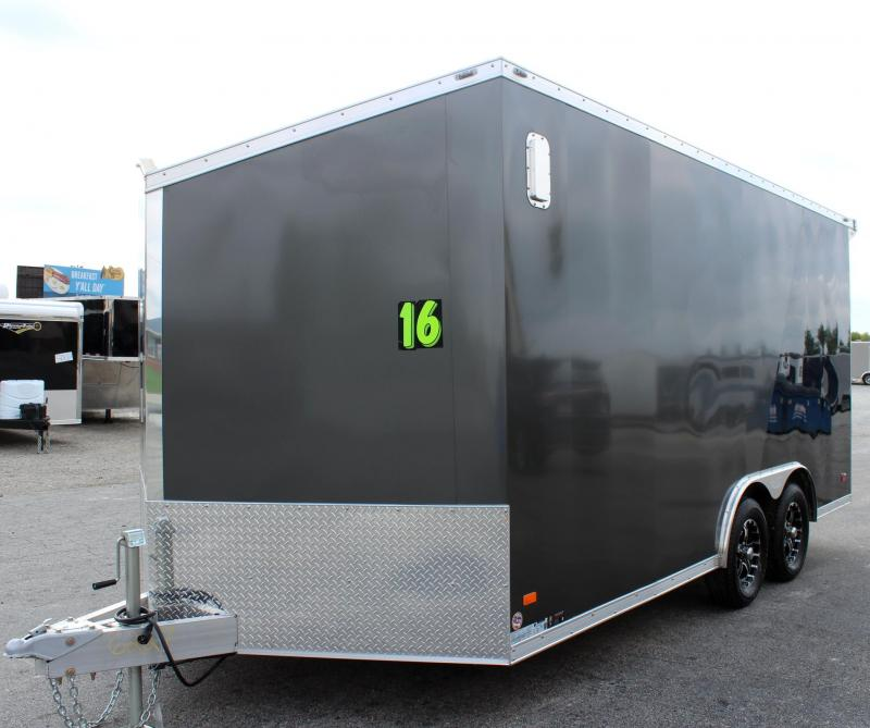 8.5' x16' All Aluminum Frame Star Enclosed Trailer Torsion Axles HD Ramp Door