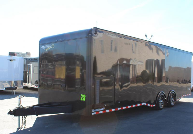 $$ SAVING TURBO PACKAGE w/BLACK OUT PKG  NOW READY! 2020 28' Edge Race Trailer