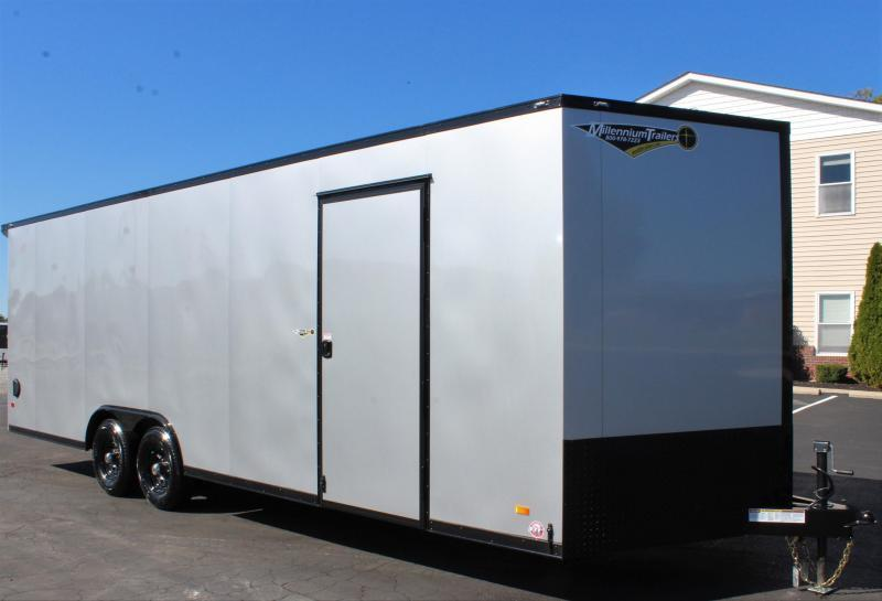 NOW READY!  2021 24' Millennium Scout Race Trailer Lighted Wing & Black Out Pkg.