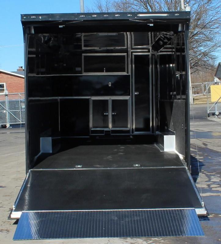 <b>SOLD ORDER YOURS TODAY</b>  WOW! TOTALLY LOADED OUT ALUMINUM FRAME 2021 28' Edge Race Trailer w/Outlaw  & Black-Out Pkg.