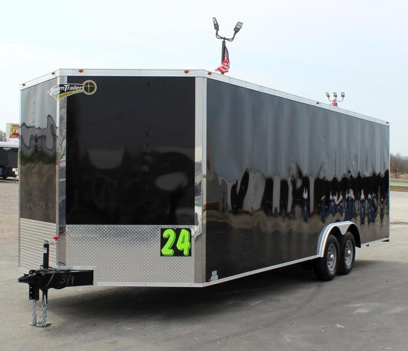 <b>IN PROCESS SPECIAL</b> 2022 24' Millennium Chrome Enclosed Trailer Heavy Duty Axles