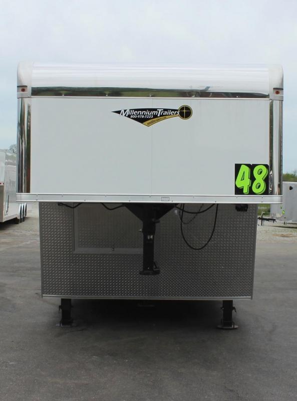 48' Millennium Gooseneck  Hydraulic Jack/Screwless .040 Exterior