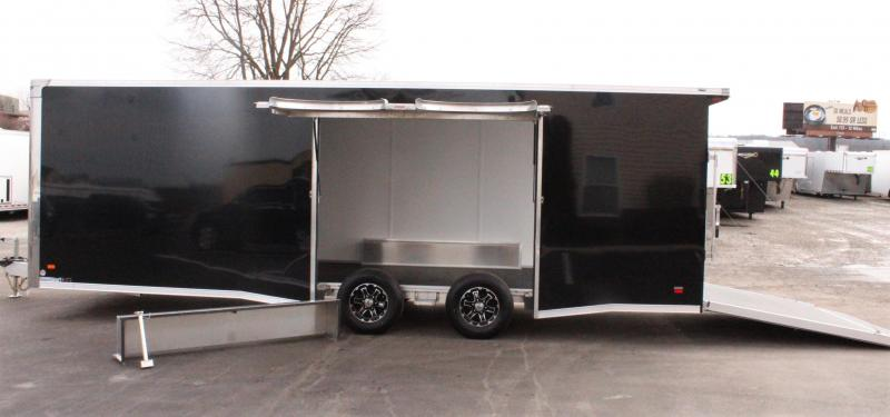 <b>Click if you have a wide car?</b> 2020 24' Aluminum Millennium Extreme Lite w/Large Escape Door w/Removable Wheel Well